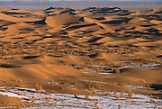 Sand dunes in winter, south Gobi Desert, Mongolia