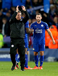 Leicester City manager Craig Shakespeare applauds the fans after his sides win over Sevilla - Mandatory by-line: Robbie Stephenson/JMP - 14/03/2017 - FOOTBALL - King Power Stadium - Leicester, England - Leicester City v Sevilla - UEFA Champions League round of 16, second leg