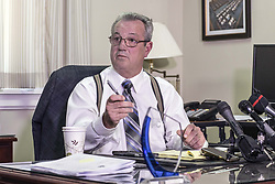 March 26, 2019 - Toronto, ON, Canada - TORONTO, ON - MARCH 26  - MPP Randy Hillier speaks to media at his Queen's Park office, March 26, 2019. Andrew Francis Wallace/Toronto Star (Credit Image: © Andrew Francis Wallace/The Toronto Star via ZUMA Wire)