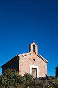 The 15-16th century Chapel of Sant Jaume de la Mata, in Mura, near the Coll d'Estenalles in Parc Natural de Sant Llorenç del Munt i l'Obac, Barcelona, Catalonia.