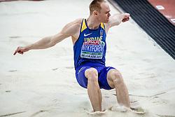 04-02-2017  SRB: European Athletics Championships indoor day 2, Belgrade<br /> Serhiy Nykyforov long jump