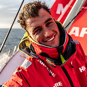 Leg 11, from Gothenburg to The Hague, day 02 on board MAPFRE, Blair Tuke showing me his tired face. 22 June, 2018.