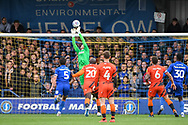 AFC Wimbledon Goalkeeper Joseph McDonnell (24) during the EFL Sky Bet League 1 match between AFC Wimbledon and Wycombe Wanderers at the Cherry Red Records Stadium, Kingston, England on 27 April 2019.