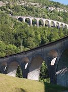A viaduct in Morez, Jura Region, France