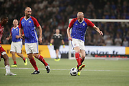 Zinedine Zidane (France 98) to Christophe Dugarry (France 98) during the 2018 Friendly Game football match between France 98 and FIFA 98 on June 12, 2018 at U Arena in Nanterre near Paris, France - Photo Stephane Allaman / ProSportsImages / DPPI