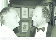 Richard Rodgers &  Ed Victor. Ed Victor party at the Garrick Club. London. 31 October 1989<br />© Copyright Photograph by Dafydd Jones<br />66 Stockwell Park Rd. London SW9 0DA<br />Tel 0171 733 0108