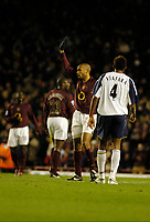 Photo: Leigh Quinnell.<br /> Arsenal v Portsmouth. The Barclays Premiership.<br /> 28/12/2005. Thierry Henry thanks the fans after scoring a goal for Arsenal.