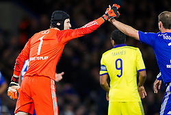 Petr Čech of Chelsea and Branislav Ivanović of Chelsea  during football match between Chelsea FC and NK Maribor, SLO in Group G of Group Stage of UEFA Champions League 2014/15, on October 21, 2014 in Stamford Bridge Stadium, London, Great Britain. Photo by Vid Ponikvar / Sportida.com