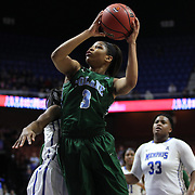 Kolby Morgan, Tulane, scores two points during the Tulane Green Wave Vs Memphis Tigers Quarter Final match at the  2016 American Athletic Conference Championships. Mohegan Sun Arena, Uncasville, Connecticut, USA. 5th March 2016. Photo Tim Clayton