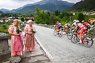 Escape group during the 101th Tour of Italy, Giro d'Italia 2018, stage 14, San Vito Al Tagliamento - Monte Zoncolan 181 km on May 19, 2018 in Italy - Photo Luca Bettini / BettiniPhoto / ProSportsImages / DPPI