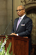 December 11, 2013-New York, NY:  Rev. Dr. Calvin Butts attends the Nelson Mandela Commemorative Memorial service held at the Riverside Church on December 11, 2013 in New York City. Nelson Rolihlahla Mandela was inaugurated as the first black President of a democratic South Africa on May 10, 1994 bringing democracy and ending the oppressive rule of apartheid . (Terrence Jennings)