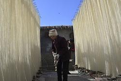 February 5, 2018 - Liaocheng, Liaocheng, China - Liaocheng,CHINA-5th February 2018: Villagers are busy making traditional noodle in Gaotang County, Liaocheng, east China's Shandong Province, February 5th, 2018. (Credit Image: © SIPA Asia via ZUMA Wire)