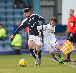Dundee's Kostadin Gadzhalov and Inverness Caledonian Thistle's Carl Temarco. <br /> Dundee 1 v 1 Inverness Caledonian Thistle, SPFL Ladbrokes Premiership game played at Dens Park, 27/2/2016.