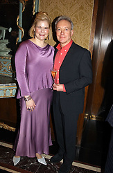 MRS JEREMY WAYNE and actor NIKOLAS GRACE at the Tatler Restaurant Awards in association with Champagne Louis Roederer held at the Four Seasons Hotel, Hamilton Place, London W1 on 10th January 2005.<br /><br /><br />NON EXCLUSIVE - WORLD RIGHTS