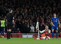 Football - 2017 / 2018 Carabao (EFL/League) Cup - Semi-Final, Second Leg: Arsenal (0) vs. Chelsea (0)<br /> <br /> Jack Wilshere (Arsenal FC) pleads with the referee after he is fouled at The Emirates.<br /> <br /> COLORSPORT/DANIEL BEARHAM