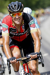 July 8, 2017 - Station Des Rousses, FRANCE - Belgian Greg Van Avermaet of BMC Racing Team pictured in action during the eighth stage of the 104th edition of the Tour de France cycling race, 187,5km from Dole to Station des Rousses, France, Saturday 08 July 2017. This year's Tour de France takes place from July first to July 23rd. BELGA PHOTO YUZURU SUNADA (Credit Image: © Yuzuru Sunada/Belga via ZUMA Press)