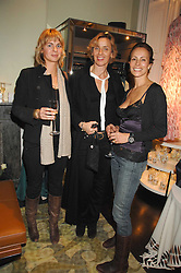 Left to right, MARIE D'ASPREMONT, AGLAE SEILERN and ANDREA DELLAL at a party hosted by Allegra Hicks to launch Lapo Elkann's fashion range in London held at Allegra Hicks, 28 Cadogan Place, London on 14th November 2007.<br /><br />NON EXCLUSIVE - WORLD RIGHTS