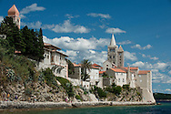 The old town of Rab with its prominent bell towers, on the island of Rab, Croatia © Rudolf Abraham