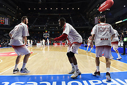 January 27, 2017 - Madrid, Madrid, Spain - Jamel McLean, #1 of EA7 Emporio Armani Milano in action ahead of the Euroleague basketball match between Real Madrid and EA7 Emporio Armani Milano. (Credit Image: © Jorge Sanz GarcíA/Pacific Press via ZUMA Wire)
