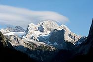 Hohe Dachstein viewed from Vorderer Gosausee, Dachstein, Salzkammergut, Austria © Rudolf Abraham