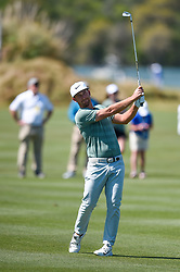 March 21, 2018 - Austin, TX, U.S. - AUSTIN, TX - MARCH 21: Kevin Chappell hits a shot from the fairway during the First Round of the WGC-Dell Technologies Match Play on March 21, 2018 at Austin Country Club in Austin, TX. (Photo by Daniel Dunn/Icon Sportswire) (Credit Image: © Daniel Dunn/Icon SMI via ZUMA Press)