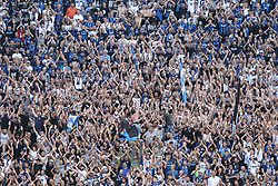 September 14, 2017 - Reggio Emilia, Emilia Romagna, Italy - Fans of Atalanta during the first match of Group E of the UEFA Europa League between Atalanta Bergamasca Calcio and FC Everton at Mapei Stadium-Citt del Tricolore on 12 September, 2017 in Reggio Emilia, Italy. (Credit Image: © Massimiliano Ferraro/NurPhoto via ZUMA Press)