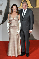 © Licensed to London News Pictures. 21/11/2016. London, UK. Director Robert Zemeckis and his wife Leslie Harter Zemeckis attend the Allied UK film premiere at Odeon Leicester Square, London. The film follows two assassins who fall in love during a mission to kill a Nazi official during World War II. Photo credit: Ray Tang/LNP