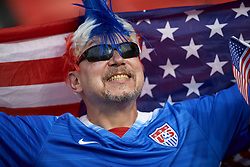 June 28, 2019 - Paris, France - Supporter of USA during the 2019 FIFA Women's World Cup France Quarter Final match between France and USA at Parc des Princes on June 28, 2019 in Paris, France. (Credit Image: © Jose Breton/NurPhoto via ZUMA Press)