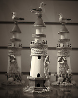 Lighthouse Replicas. National Maritime Museum, Dublin, Ireland.  Image taken with a Leica X2 camera (ISO 200, 24 mm, f/2.8, 1/50 sec). Raw image processed with Capture One Pro, Focus Magic, and Photoshop CC 2014.