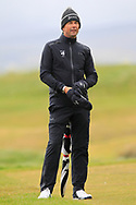 Niall Manchip (GUI National Coach) the 18th tee during Round 3 of the Ulster Boys Championship at Donegal Golf Club, Murvagh, Donegal, Co Donegal on Friday 26th April 2019.<br /> Picture:  Thos Caffrey / www.golffile.ie