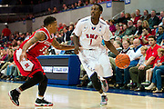 DALLAS, TX - JANUARY 21: Ryan Manuel #1 of the SMU Mustangs drives to the basket against the Rutgers Scarlet Knights on January 21, 2014 at Moody Coliseum in Dallas, Texas.  (Photo by Cooper Neill/Getty Images) *** Local Caption *** Ryan Manuel