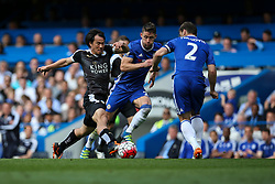 Shinji Okazaki of Leicester City on the attack - Mandatory byline: Jason Brown/JMP - 15/05/2016 - FOOTBALL - London, Stamford Bridge - Chelsea v Leicester City - Barclays Premier League