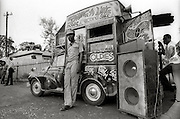 """Charlie Ace's Swing-a-Ling mobile record and  recording shop and studio - 1973 -  Run by Charley Ace, (real name Vernel Dixon) a legendary DJ in the 1970's as well as label owner of """"Swing A Ling Records"""". He worked with many producers including Lee Perry & Studio One. Sadly Charley Ace was gunned down, murdered in the early 1980's."""