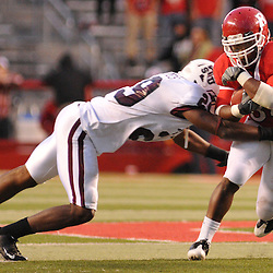 Oct 10, 2009; Piscataway, NJ, USA; Texas Southern safety Jashaad Gaines (29) tackles Rutgers running back De'Antwan Williams (34) during second half NCAA college football action in Rutgers' 42-0 victory over Texas Southern at Rutgers Stadium.