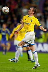 Steven Caldwell of Birmingham City at 2nd Round of Europe League football match between NK Maribor (Slovenia) and Birmingham City (England), on September 29, 2011, in Maribor, Slovenia.  (Photo by Urban Urbanc / Sportida)