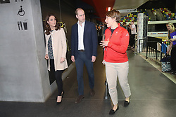 The Duke and Duchess of Cambridge during a SportsAid event at the Copper Box in the Olympic Park, London.