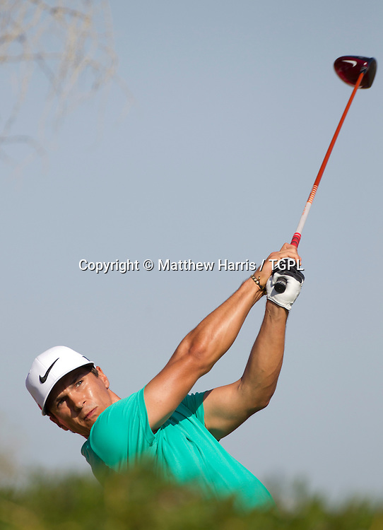 Thorbjorn OLESEN (DEN) during fourth round,Abu Dhabi HSBC Championship 2013,Abu Dhabi Golf Club,Abu Dhabi,20th January 2013.