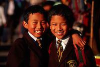 School boys, Darjeeling, West Bengal, India