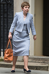 Downing Street,  London, June 27th 2015. Leader of the House of Lords, Baroness Tina Stowell leaves the first post-Brexit cabinet meeting at 10 Downing Street.