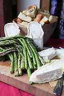 Cohasset, MA 05/11/2013<br /> A cheese plate featuring Holly Hill Farm's own asparagus and Bucheron cheese.