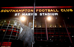 A statue of Ted Bates outside the stadium before the Premier League match at St Mary's Stadium.