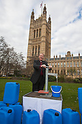 The Bishop of Exeter. Marking World Water Day, over 40 MP's walked for water at Westminster, London at an event organised by WaterAid and Tearfund. Globally hundreds of thousands of people took part in the campaign to raise awareness of the world water crisis.