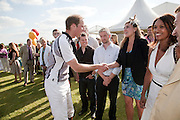 HRH PRINCE WILLIAM; ANDY ELLIS; MITCH GRIFFITHS,; KIRSTEN RUPPERT, The Dalwhinnie Crook  charity Polo match  at Longdole  Polo Club, Birdlip  hosted by the Halcyon Gallery. . 12 June 2010. -DO NOT ARCHIVE-© Copyright Photograph by Dafydd Jones. 248 Clapham Rd. London SW9 0PZ. Tel 0207 820 0771. www.dafjones.com.