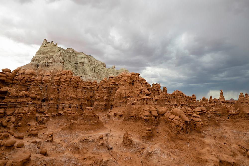 Photograph of Goblin Valley State Park, near Hanksville, Emery County, Utah, on an overcast summer day.
