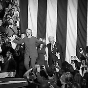 Raleigh, NC - November 7,  2016: The Clinton family walks on stage inside the Reynolds Coliseum on the campus of North Carolina State. This is the final campaign stop until election day. CREDIT: LOGAN R CYRUS