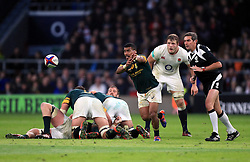 South Africa's Rudy Paige in action during the Autumn International match at Twickenham Stadium, London.