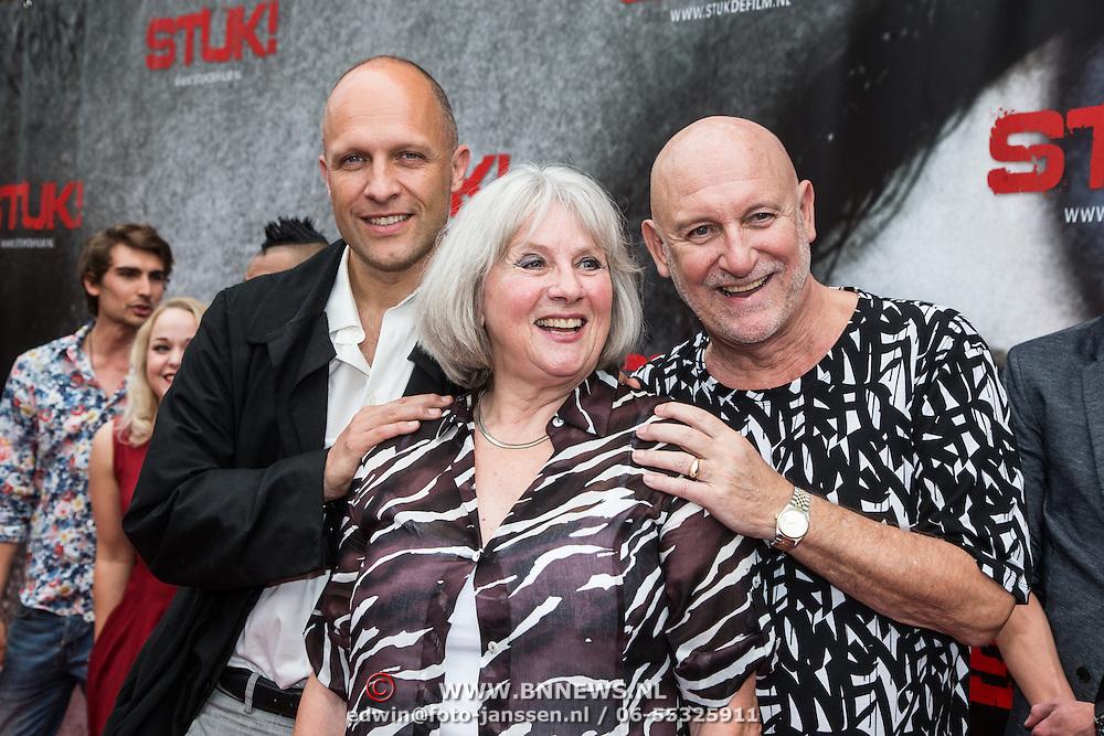 NLD/Almere/20140609 - Premiere Stuk de film, Pleuni Touw met partner Hugo Metsers en zoon Hugo Metsers Jr,