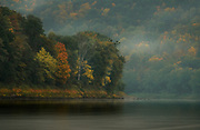 Autumn Color and Mist cling to the Susquehanna River Valley