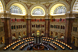 THEMENBILD - Der grosse Lesesaal im Thomas-Jefferson-Gebaeude der Kongress-Bibliothek. Reisebericht, aufgenommen am 12. Jannuar 2016 in Washington D.C. // The large reading room in the Thomas Jefferson Building of the Library of Congress. Travelogue, received on 12 Jannuary 2016 in Washington DC. EXPA Pictures © 2016, PhotoCredit: EXPA/ Eibner-Pressefoto/ Hundt<br /> <br /> *****ATTENTION - OUT of GER*****