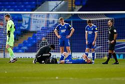 Teddy Bishop of Ipswich Town down injured - Mandatory by-line: Phil Chaplin/JMP - 21/11/2020 - FOOTBALL - Portman Road - Ipswich, England - Ipswich Town v Shrewsbury Town - Sky Bet League One